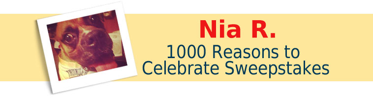 Dog.com's 1000 Reasons to Celebrate Sweepstakes Winner