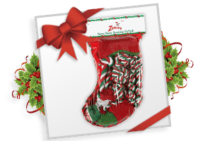 Zanies® Santa Super Holiday Toy Stocking!