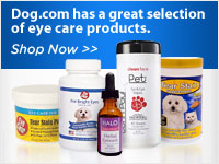 Dog.com has a great selection of eye care products
