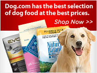 Dog.com has the best selection of dog food at the best prices