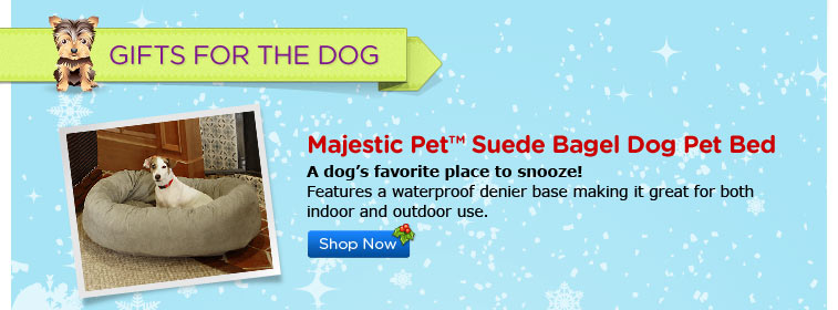 Majestic Bagel Dog Pet Bed Suede