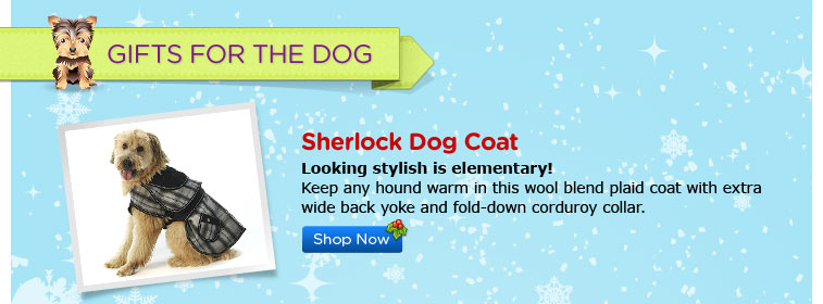Sherlock Dog Coat